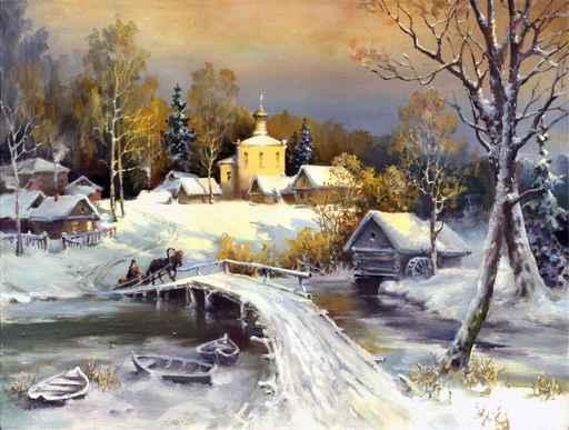Märchen - Landschaft in Russland